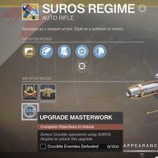Destiny 2 - Suros Regime Catalyst Upgrade 300 Crucible Kills PvP (Xbox/PC/PS4)