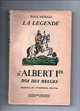 WERRIE La Légende d'Albert 1er roi des belges. Casterman sd. Illustrations Hergé