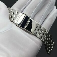 20mm For BREITLING Watch Stainless Steel Bracelet Strap Band Silver