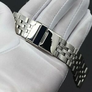 22mm For BREITLING Watch Stainless Steel Bracelet Strap Band Silver