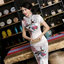 Slim Qipao Ladies Dress Long Cheongsam Chinese Style Floral Designed Clothes New