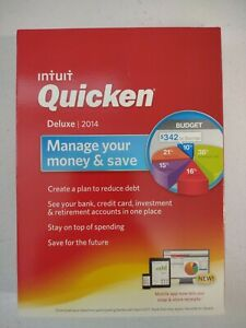 Intuit Quicken Deluxe 2014 Personal Finance Software  Windows 7/8 XP NEW Sealed