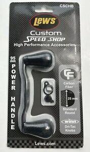 Lew's Custom Speed Shop 95mm Carbon Fiber Power Handle CSCHB Black!!