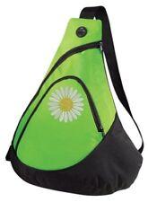 Pickleball Paddle Sling Bag - Daisy ball - Embroidered Lime Bag - FREE NAME