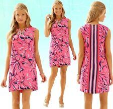 NWT Lilly Pulitzer Iona Shift Dress Bright Navy Flirty Engineered Sz Small S