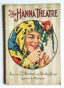 "1930 Hanna Theatre Program ""Bird in Hand"" + Marx Brothers ANIMAL CRACKERS Ad"