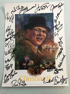 Autographed Poster Green Bay Packers 1988 Lombardi Golf Classic Bart Starr+