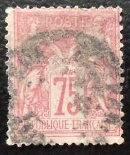 France oblitéré, n°81, 75c rose, Sage type 2, 1885