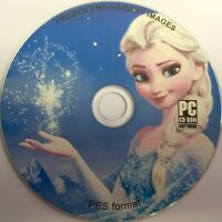 40 FROZEN EMBROIDERY MACHINE DESIGNS ON CD PES FORMAT FILES FREE POST 036