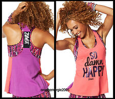 ZUMBA 2pc.SET!! So Awesome Loose Tank Corally Yours + RepStyle Bra Top - S M L