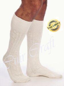Mens White Bavarian Oktoberfest Socks Short Causal Lederhosen Socks Pairs White