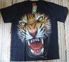 TIGER T-SHIRT (RICHMOND) Scowling 'EAT EM ALIVE Full HD GLOW IN THE DARK Size XL