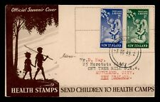 1949 NEW ZEALAND HEALTH ISSUE FDC 70109