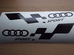 QUATTRO AUDI sport  LARGE car vinyl sticker decal x2
