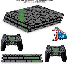 GREEN HEX  PS4 PRO SKINS DECALS (PS4 PRO VERSION) WRAP TEXTURED VINYL STICKER
