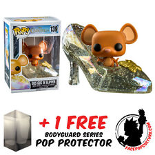 FUNKO POP VINYL DISNEY CINDERELLA GUS GUS IN CLEAR SLIPPER + FREE POP PROTECTOR