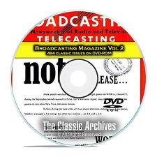 Broadcasting Magazine, Volume 2, 494 Old Time Radio OTR Magazines PDF DVD E59