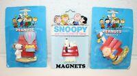 3x Vintage Peanuts Snoopy Charlie Brown Refrigerator Magnets NOS Vintage NEW!