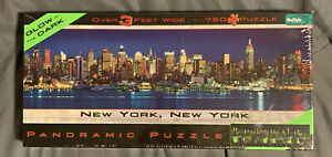 New York, New York panoramic Glow in the Dark Puzzle by Buffalo Games