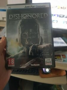 JEU PC DVD-ROM DISHONORED JUST FOR GAMES VERSION FRANCAISE INTEGRALE NEUF BLISTE
