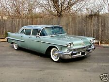 1958 Cadillac FLEETWOOD 75 LIMOUSINE, TEAL, Refrigerator Magnet, 40 MIL THICK