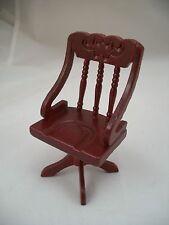 Chair - Swivel - Desk - dollhouse miniature wooden furniture T3400 1/12 scale