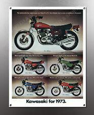 VINTAGE KAWASAKI 1973 IMAGE BANNER NOS IMAGE REPRODUCTION