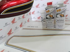 Honda CB 500 Four K2 Color Paint Kit Candy Antares Red + Decal Stripes Fuel Tank