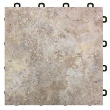 Basement Flooring Tiles Sienna Sandstone - As Low As $3.98 - MADE IN USA