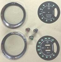 3 VOYANT LED, CADRAN, CERCLAGE ET LUNETTE DE COMPTEUR RENAULT ALPINE A110 LIGHT