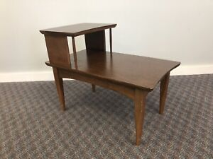 Mid Century Modern STEP TABLE vintage side end accent night stand retro mcm 60s