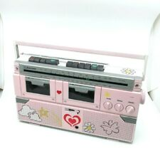 Vintage Emerson CTR 939 Boombox Dual Cassette Player Stereo AM/FM Radio 80s Pink
