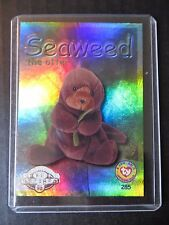 Ty Beanie Babies Series Ii S2 ~ Silver ~ Retired Bboc Card Seaweed the Otter
