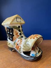 VINTAGE RETRO Kitsch CERAMIC Shoe NIGHT NURSERY LAMP LIGHT Studio Pottery