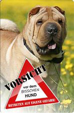SHAR PEI - A4 fun Metall Warnschild SCHILD Hundeschild Alu Türschild - PEI 05 T3
