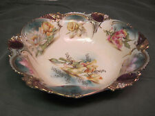 Very Rare Antique Rs Prussia Floral Bowl