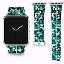 Bape Shark Apple Watch Band 38 40 42 44 mm Series 5 1 2 3 4 Wrist Strap 03