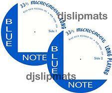 "Pair (2) BLUE NOTE Records 12"" or 7"" TURNTABLE MATS slipmat jazz davis gillespie"