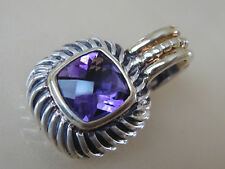 DAVID YURMAN 14K GOLD , STERLING SILVER ALBION AMETHYST ENHANCER