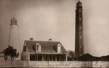 Cape Romain Lighthouse, McClellanville South Carolina c1885, 2 Lights - Postcard