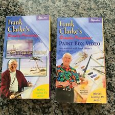 Lot of 2 Frank Clarke's Simply Painting Videos VHS Learn to Paint Instructional