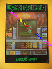 CARTOLINA PROMOZIONALE POSTCARD IRON MAIDEN Vasted years*10x15cm no cd dvd lp mc