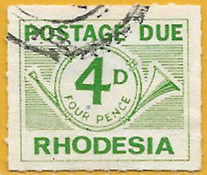Rhodesia 1965 4d green Postage Due sg D10 used