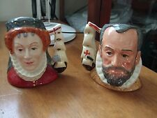 Royal Doulton Character Jugs X 2 No Queen Elizabeth 1 and King Philip of Spain