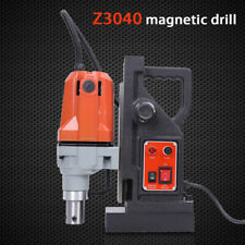 """1100W Md40 Magnetic Drill Press 550Rpm 1-1/2"""" Boring 1200Lb Magnet Force Tapping"""