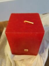 "PartyLite - Square Pillar Candle - 3"" x 4"" - Cinnamon & Bayberry (red) - NIB"