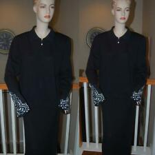 WOW STUNNING ST. JOHN KNIT BLACK COLLECTION SANTANA KNIT JACKET SZ 16