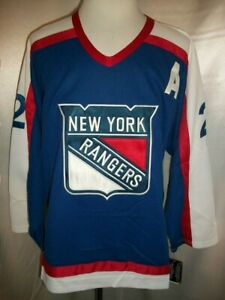 Brian Leetch New York Rangers Blue, Red & White 1977-78 Throwback CCM NHL Jersey