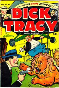 """DICK TRACY #60 GD/VG Chester Gould """"Million Dollar Murder"""" 1953 Harvey"""