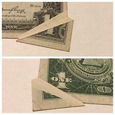 VINTAGE double BUTTERFLY FOLD ERROR 1935-E $1 SILVER CERTIFICATE ONE DOLLAR BILL